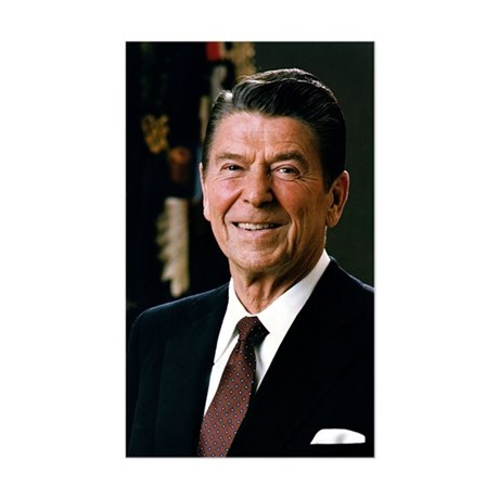 Reagan Portrait Rectangle Sticker