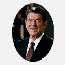 Reagan Portrait Oval Ornament