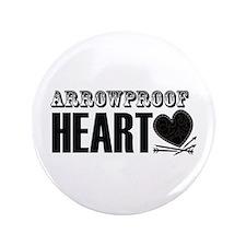 """Arrowproof Heart 3.5"""" Button"""