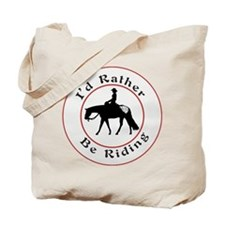 Appalossa Rather be Riding Tote Bag