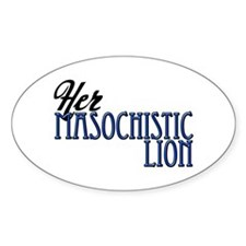 Masochistic Lion Oval Decal