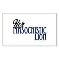 Masochistic Lion Rectangle Decal