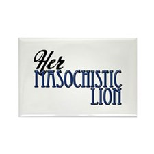 Masochistic Lion Rectangle Magnet
