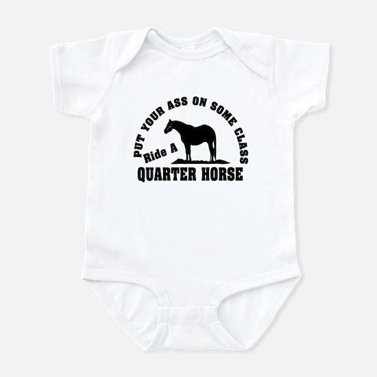 Quarter Horse Ride with Class Infant Bodysuit