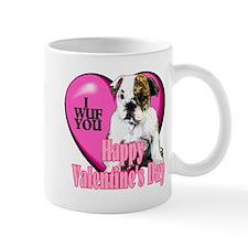 Bulldog Valentines Mug
