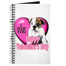 Bulldog Valentines Journal