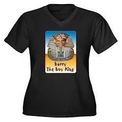 Barry The Boy King Women's Plus Size V-Neck Dark T