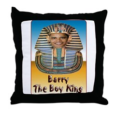 Barry The Boy King Throw Pillow