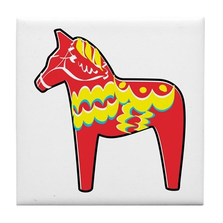 Pretty Dala Horse Tile Coaster