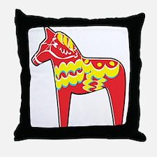 Pretty Dala Horse Throw Pillow