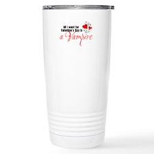 Valentines Day Vampire Travel Mug