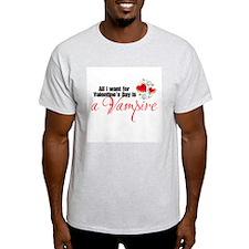 Valentines Day Vampire T-Shirt