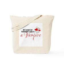 Valentines Day Vampire Tote Bag