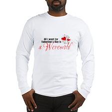 Valentines Day Werewolf Long Sleeve T-Shirt