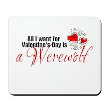 Valentines Day Werewolf Mousepad