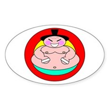 SUMO WRESTLER Oval Decal