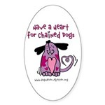 Have A Heart 2 Oval Sticker (50 pk)