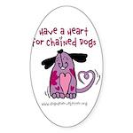 Have A Heart 2 Oval Sticker (10 pk)