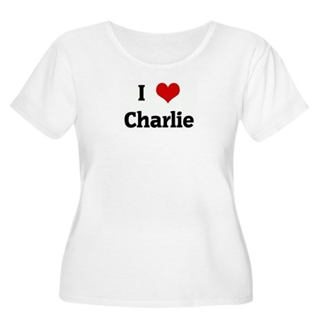 I Love Charlie Women's Plus Size Scoop Neck T-Shir