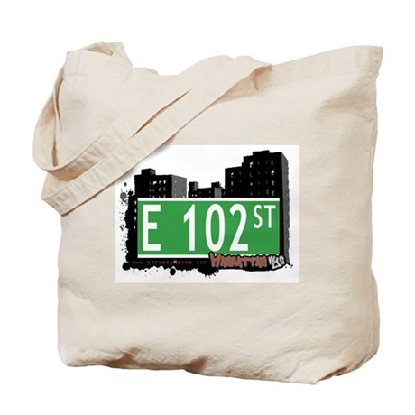 E 102 STREET, MANHATTAN, NYC Tote Bag