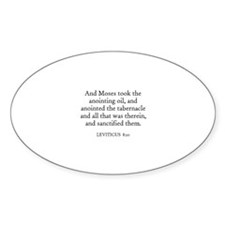 LEVITICUS 8:10 Oval Decal