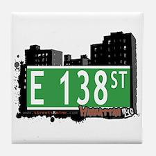 E 138 STREET, MANHATTAN, NYC Tile Coaster