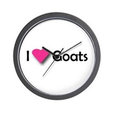 I LUV GOATS Wall Clock