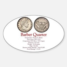 Barber Quarter Oval Decal