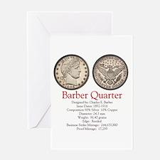 Barber Quarter Greeting Card