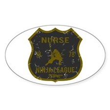 Nurse Ninja League Oval Decal