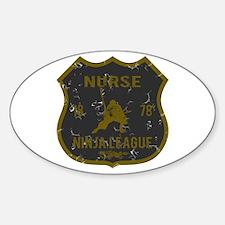 Nurse Ninja League Oval Decal