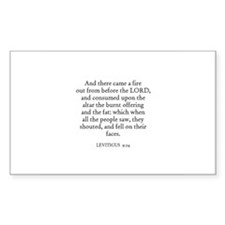 LEVITICUS 9:24 Rectangle Decal