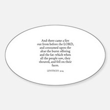 LEVITICUS 9:24 Oval Decal