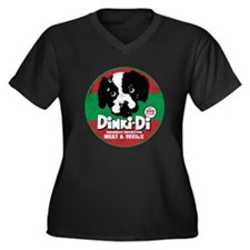 Dinki Di Women's Plus Size V-Neck Dark T-Shirt