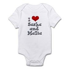 I Love Sasha and Malia Infant Bodysuit