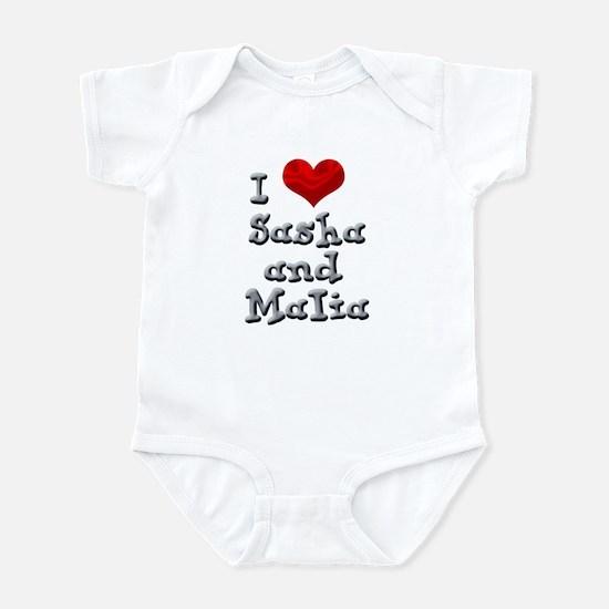 I Love Sasha and Malia Infant Bodysuit