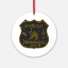 Optometrist Ninja League Ornament (Round)