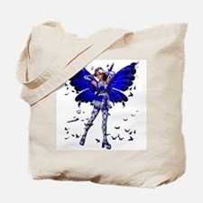 Butterfly Kisses Blue Sapphire Tote Bag