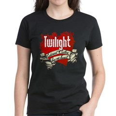 Edward Cullen Tattoo Women's Dark T-Shirt