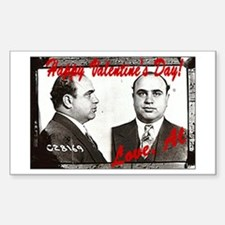 Al Capone Valentine Rectangle Decal