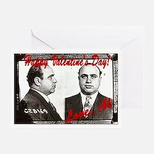 Al Capone Valentine Greeting Card