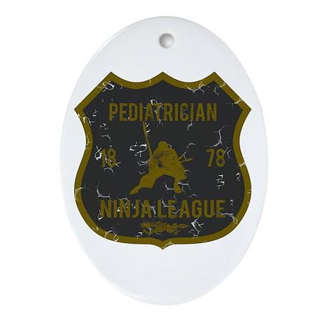 Pediatrician Ninja League Oval Ornament