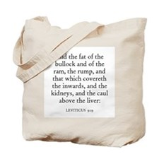 LEVITICUS  9:19 Tote Bag