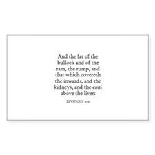 LEVITICUS 9:19 Rectangle Decal