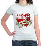 Edward Cullen Tattoo Jr. Ringer T-Shirt