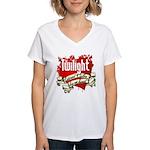 Edward Cullen Tattoo Women's V-Neck T-Shirt