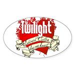 Edward Cullen Tattoo Oval Sticker