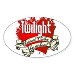 Edward Cullen Tattoo Oval Sticker (10 pk)