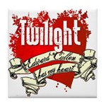 Edward Cullen Tattoo Tile Coaster