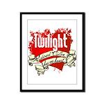 Edward Cullen Tattoo Framed Panel Print